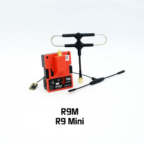 Frsky R9 Mini Receiver with Ipex4 Dipole T Antenna with R9M Module Super 8 Antenna
