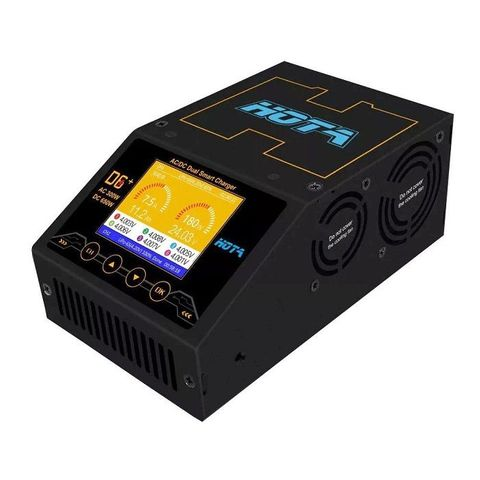 HOTA D6+ 300W 1-6S AC/DC Dual Channel Smart Balance Charger
