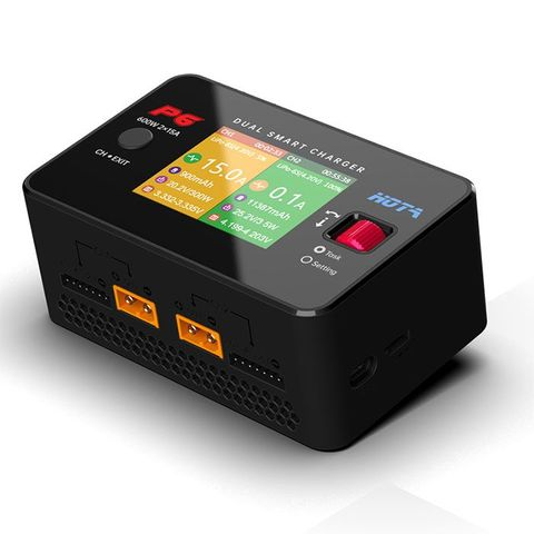 HOTA P6 DC600W 15AX2 DC Dual Channel Smart Charger with Mobile Service Charging