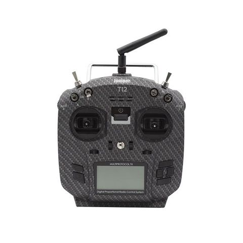 Jumper T12 Pro Carbon Fiber OpenTX 16CH Transmitter Radio with JP4in1 Multi-protocol RF Module