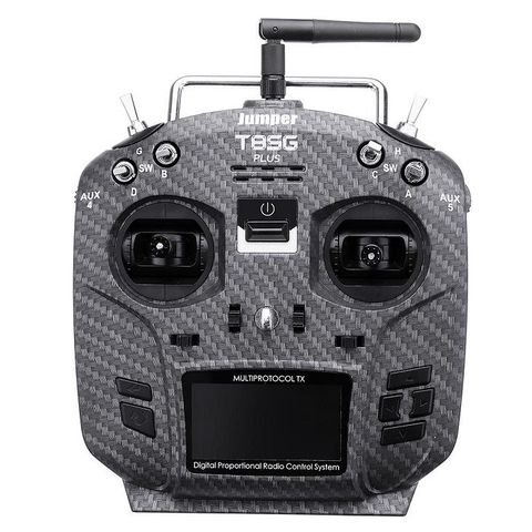 Jumper T8SG V3 PLUS Carbon Edition Hall Gimbal 2.4G 12CH Multi-Protocol Transmitter
