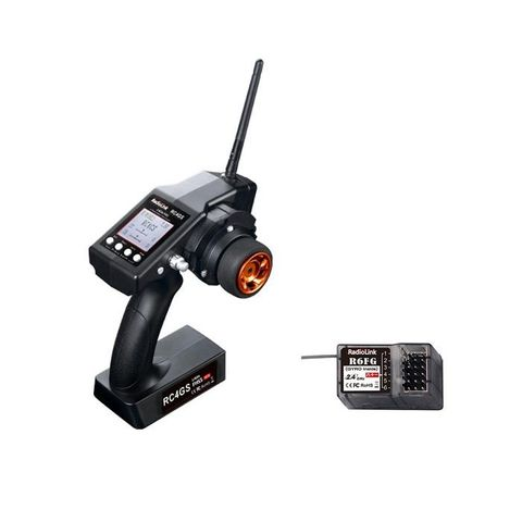 Radiolink RC4GS 2.4G 4 Channels Remote Controller Transmitter with R6FG  Receiver for RC Car Boat Crawler