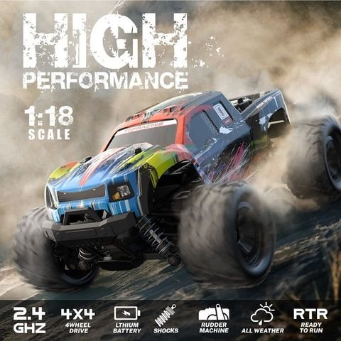 RCWING 2.4G 1:18 4WD Full-scale High Speed Remote Controller Car RC Monster Truck RTF