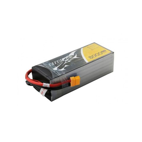 Tattu 6S 8000mah 22.2V 25C Lipo Battery with XT60 plug