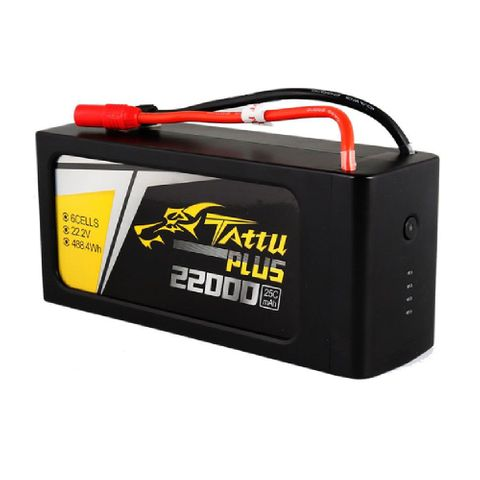 Tattu Plus 6S1P 22.2V 22000mAh 25C Lipo Smart Battery Pack with AS150+XT150 Plug