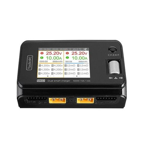 ToolKitRC M6D 500W 15A 1-6S DC Dual Smart Lipo Balance Charger
