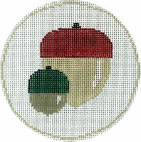 Acorns with Red/Green Tops