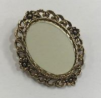 Antique Gold Oval Brooch