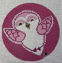 Baby Snow Owl on Pink