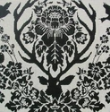 Black Antler Damask