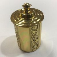 Brass Embossed Thimble Case