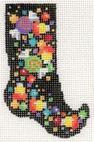 Candy Confetti Witch Sock