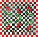 Cherries With Checkerboard