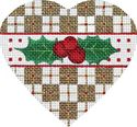 Cross Square Holly Heart
