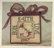 Faith, Hope, Love Ornament