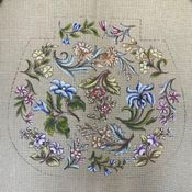Floral Chair Seat/Pillow