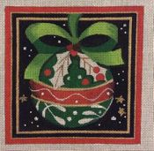 Holly Ornament in Square