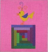 Little Chick on Quiltblock