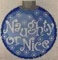 Naughty or Nice on Blue