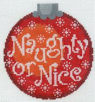 Naughty or Nice Red Ornament