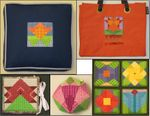Overalls - Flower Quilt Blocks