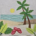 Palm Trees Beach Scene