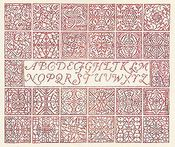 Red Velvet Inscription Sampler