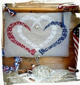 Red, White & Blue Hearts