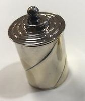 Silver Plated Swirl Thimble Case