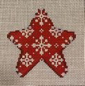 Snowflakes on Red Mini Star