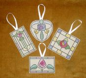 Stained Glass Ornaments - Set 2
