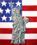 Statue Of Liberty / Flag