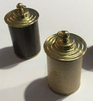 Wood & Brass Thimble Case