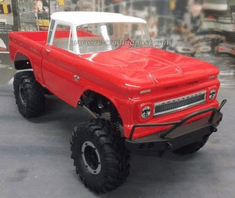 "1966 Chevrolet C-10 Custom Body for 12.3"" (313mm) Wheelbase Scale RC Crawlers"