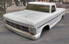 1968 Ford F100 Custom Painted RC Touring Car / RC Drift Car Body 200mm (Painted Body Only) For Vaterra V100-S
