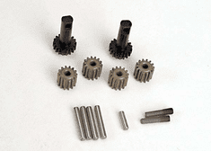 2382 - Planet gears (4)/ planet shafts (4)/ sun gears (2)/sun gear alignment shaft (1) all hardened steel