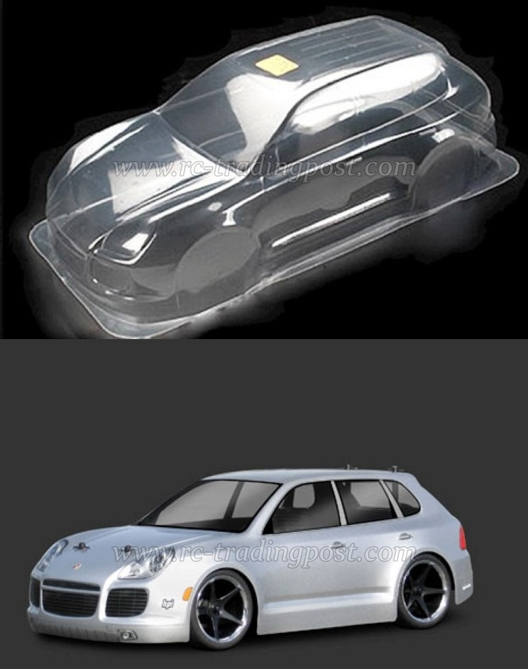Clear Rc Body Porsche Cayenne Turbo 200mm Car Shell By Hpi Racing
