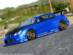 Prova Impreza Custom Painted RC Touring Car / RC Drift Car Body 200mm (Painted Body Only)