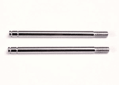1664 - Shock shafts, steel, chrome finish (long) (2)