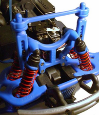 T-Maxx & E-Maxx Shock Tower & Body Mounts � Blue
