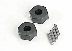 1654 - Wheel hubs, hex (2)/ stub axle pins (2)
