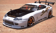 Toyota Supra Aero Custom Painted RC Touring Car / RC Drift Car Body 200mm (Painted Body Only)