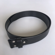 New Black Pure Nature Real Leather Belt Screws On Custom Cut to Fit Belt