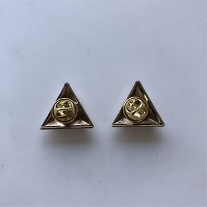 New Bright Silver Cones Triangle Collar Tip Brooch 1 Pair With Screws