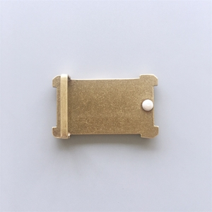 New Rectangle Solid Brass Belt Buckle Gift Box Package