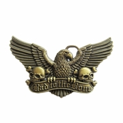 New Vintage Bronze Plated Eagle Skull Belt Buckle Gurtelschnalle Boucle de ceinture