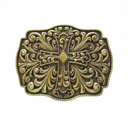 New Vintage Bronze Plated Western Flowers Belt Buckle Gurtelschnalle Boucle de ceinture