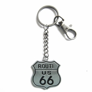 New Vintage Double Faces US Road Heavy Metal Pendant Charm Key Ring