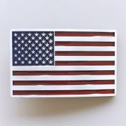 New Vintage Enamel American US Flag Belt Buckle