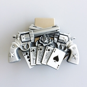 New Vintage Gun Royal Flush Poker Spinner Lighter Belt Buckle Gurtelschnalle Boucle de ceinture
